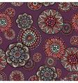 Ornamental vintage fantasy floral seamless pattern vector image vector image