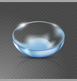 realistic eye contact lens isolated on the vector image vector image