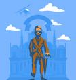 rich man with an umbrella vector image vector image