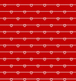 Rope wires with heart knots red seamless pattern vector image vector image