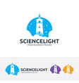 science light logo design vector image vector image