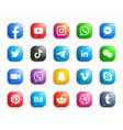social media modern ios 3d icons set vector image