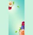 spring flowers floral pattern screen background vector image vector image