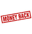 square grunge red money back stamp vector image vector image