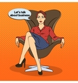Successful Business Woman Pop Art vector image vector image