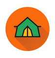 tent icon on white background vector image vector image