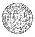 the seal of the treasury department of the united vector image vector image