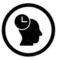 Time Thinking Rounded Grainy Icon vector image vector image