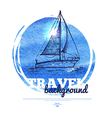 Travel tropical design banner vector image