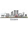 ulsan south korea city skyline with color vector image vector image