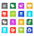 valentines and love icons vector image