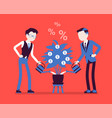 young businessmen get investment and profit grow vector image
