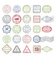 postal stamps set colored vector image