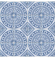 azulejo seamless portuguese tile blue pattern vector image