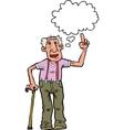 grandpa says vector image