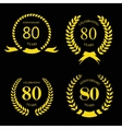 80 eighty years icon template for celebration vector image
