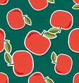 Apple pattern Seamless texture with ripe red vector image vector image