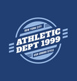 athletic department 1999 - typography vintage logo vector image vector image