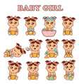 baby girl set cute girls in vector image vector image