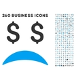 Bankrupt Sad Emotion Icon with Flat Set vector image vector image