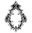 baroque mirror frame french imperial vector image vector image