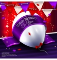 birthday card with balloon bunting flags vector image vector image