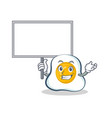 bring board fried egg character cartoon vector image vector image
