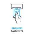 business payments concept outline icon linear vector image vector image