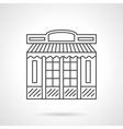 Chocolate shop facade flat line icon vector image vector image