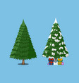 christmas tree xmas icon cartoon style vector image