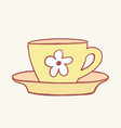 cups mug flower hand drawn style doodle vector image vector image