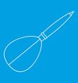 dart arrow icon outline style vector image vector image