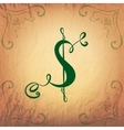 Dollar Symbol in Vintage Style vector image vector image