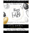 easter day invitation party vector image vector image
