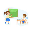education back to school concept little vector image vector image