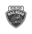 emblem template with vintage train design element vector image vector image
