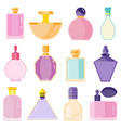 empty perfume toilet bottles in flat design vector image