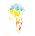 fashion watercolor vector image vector image