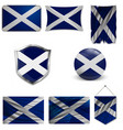 flag scotland saint andrews cross accurate vector image vector image