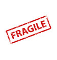 fragile stamp texture rubber cliche imprint web vector image