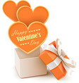 Gift box with big hearts vector | Price: 3 Credits (USD $3)