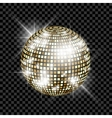 Golden disco ball vector image