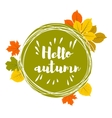 Hand drawn hello autumn leaves