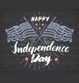 happy independence day fourth july vintage vector image vector image