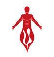 human being standing hephaestus creative metaphor vector image vector image