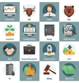 Investment And Trading Icons vector image