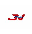 JV Logo Graphic Branding Letter Element vector image vector image