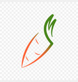 logo of carrots on a vector image vector image