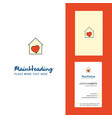 love house creative logo and business card vector image