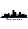 manchester new hampshire city skyline silhouette vector image